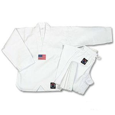 ProForce ® 8oz. Medium Weight Tae Kwon Do Uniform -- White V-Neck